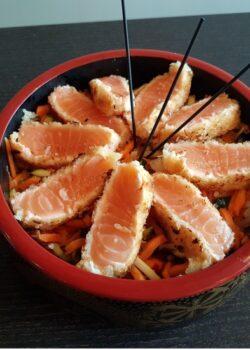 saumon croustillant