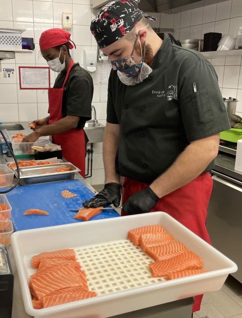 Découpe saumon